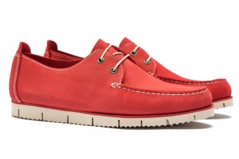 Pantofi Rosi Piele nabuc