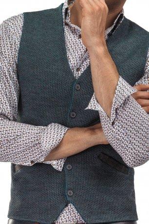 Vesta slim tricotata gri uni