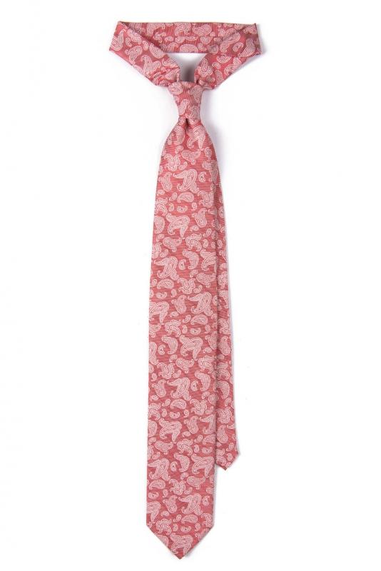 Cravata poliester rosie print floral