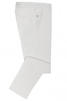 Slim body White Plain Trouser