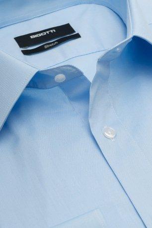 Camasa slim stretch bleu uni