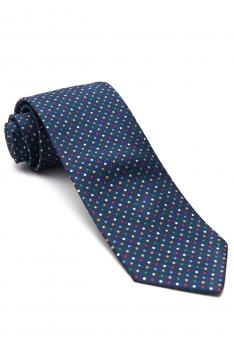 Blue Geometric Tie