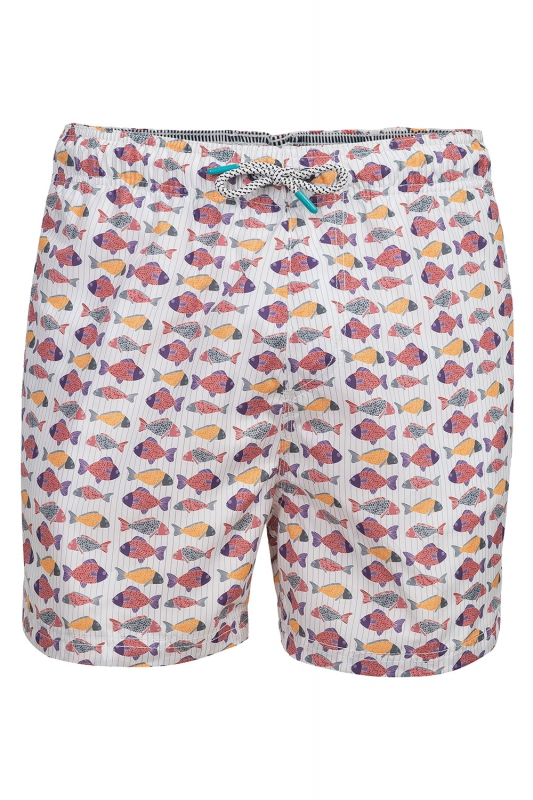 Short Alb print Geometric