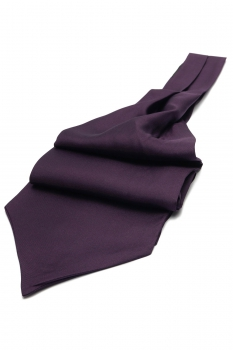 Purple Plain Ascot tie