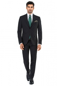 Slim Black Plain Suit