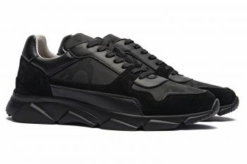 Negrugalben Matt suede leather and textil Shoes