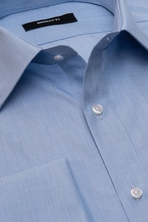 Camasa slim albastra uni