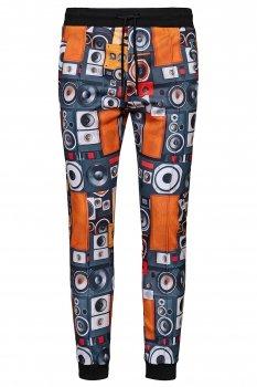 Pantaloni trening Oranj print Geometric