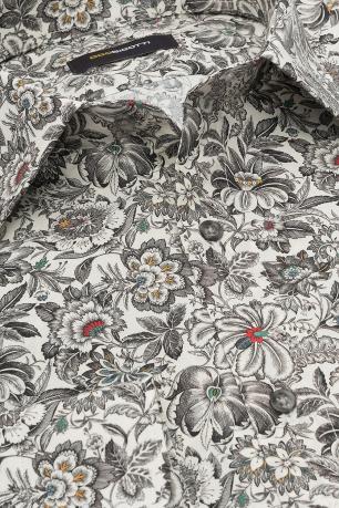 Camasa slim bej print floral