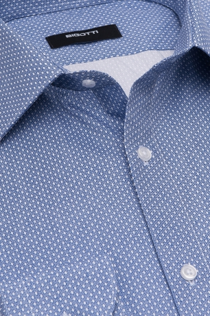 Camasa superslim albastra print geometric